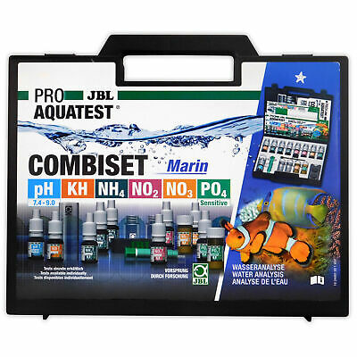 JBL CombiSet Marine Aquarium Test Kit- pH, KH, NH4, NO2, NO3, PO4 Complete Set