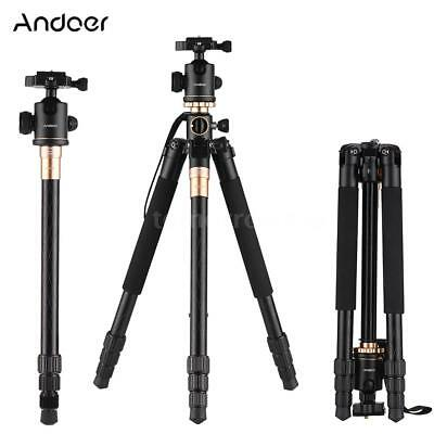 "Andoer 61""Professional Aluminium Travel Tripod Monopod Ball Head for DSLR Camera"