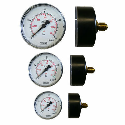 Manometer waagrecht Ø 40, 50, 63 mm Druckluft-Manometer Vakuum Kompressor