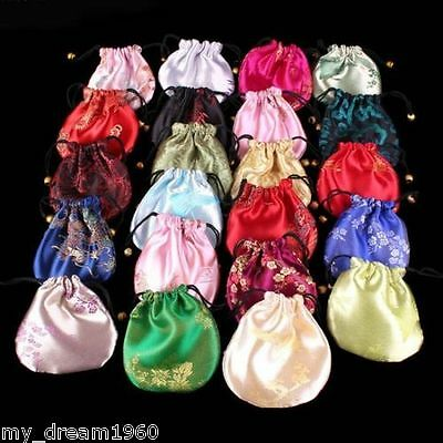 WHOLESALE 10PCS Silk Pouches Candy jewelry Drawstring gift Bags Wedding Bag