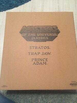 Masters of the Universe Classics Power Con Prince Adam, Trap Jaw, Stratos