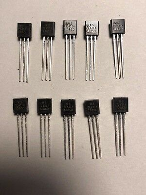 10pcs TL431 TL431A Programmable Voltage Reference 2.5-36V TO-92