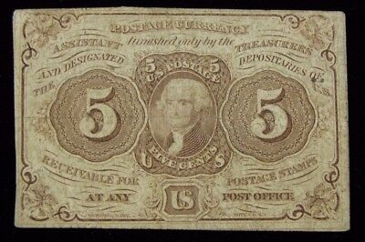 1862 5 Cent Fractional Postal Currency Thomas Jefferson US Paper Money #106