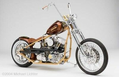"2006 Custom Built Motorcycles Bobber  Real,documented Indian Larry ""Mr. Tiki's shop droppings"" custom, Panhead Bobber!"