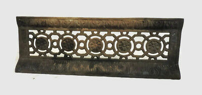 Antique Late 1800's Cast Iron Fireplace Bumper Surround Insert Ornate Design B