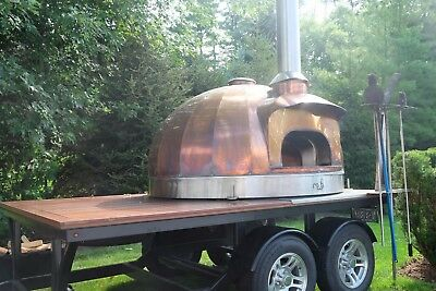 WOOD FIRED PIZZA OVEN: Mobile Events, Custom Copper Cladding, Concession Trailer
