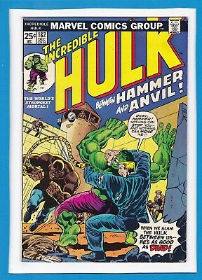 INCREDIBLE HULK #182_DEC 1974_F/VF_2nd FULL APPEARANCE OF WOLVERINE_BRONZE AGE!