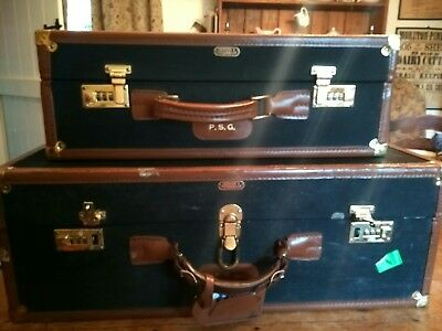 A set of three Crouch and Fitzgerald Vintage travelling cases trunks