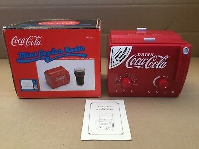 Coca Cola MINI COOLER RADIO 1991 AM/FM RADIO