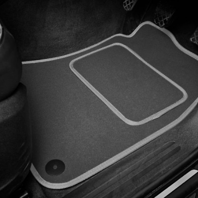 Grey SUPER VELOUR Car Floor Mats Set To Fit Ford Mondeo (2000-2007)