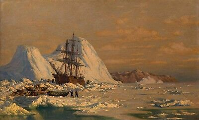 "William Bradford : ""An Incident of Whaling"" — Giclee Fine Art Print"