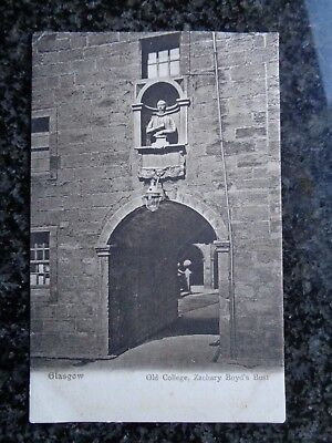 Glasgow - Old College - Zachary Boyd's Bust - Early Sepia Ptd Postcard Unused