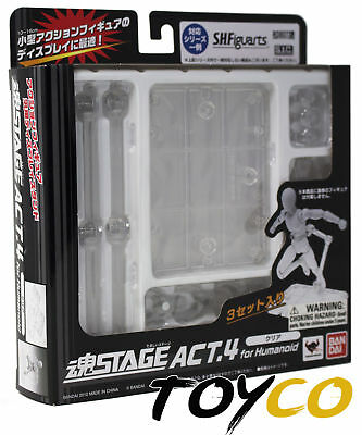 New SH Figuarts Authentic Tamashii Stage Act 4 Set of 3 for Humanoid (Clear)