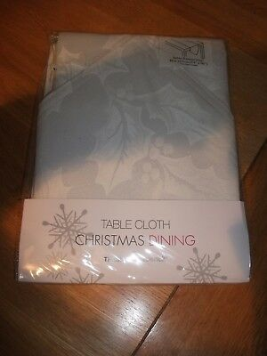 "Christmas Xmas Table Runner - Bnip - 14"" X 90"" (36 X 228 Cm) - White Cotton"