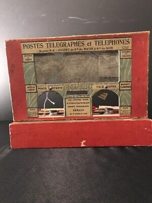 Antique French Postes Telegraphes Et Telephones Ultra Rare Childs Game (Postal)