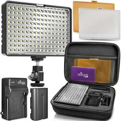 Altura Photo® 160 Dimmable LED Professional Camera Light w/ Filters and Case
