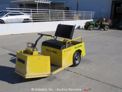 2010 Cushman Minute Miser Industrial 24V Electric Flatbed Warehouse Cart bidado