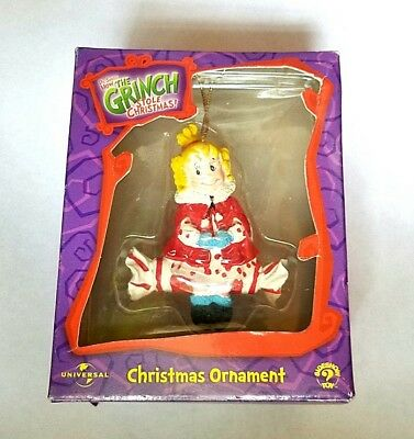 Official 2000 New The Grinch Who Stole Christmas Ornament Cindy Lou Who Dr Seuss