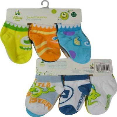 NEW Disney Baby Monsters Inc. 6-Pair Infant Socks, 6-12 Months