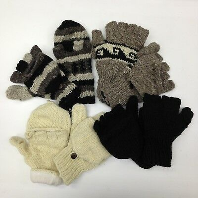 SHERPA Hunter Convertible Hand Knitted Himalayan Wool Mitten Glove Made in NEPAL