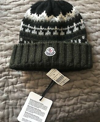 New Moncler kids wool thick knit Hat Size S (5/6)