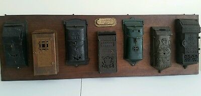 Antique Vintage Mailbox Collection Cast Iron Mission Style Copper Victorian