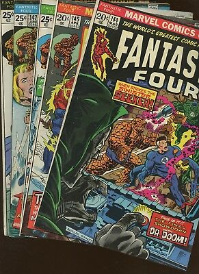 Fantastic Four 144,145,146,147,148 ~ 5 Book Lot * Conway! Andru! Buckler!