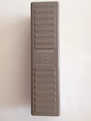 Kodak VINTAGE Kodaslide Ready-File Slide Storage Box Eastman