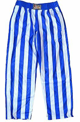 Harlem Clubs Adult Unisex basketball Warm Up Pants Side Snap on Button Royal