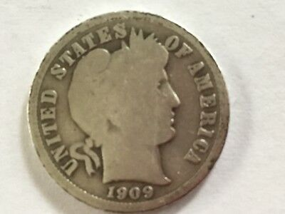 1909 US Liberty Head Dime . 108 years old.