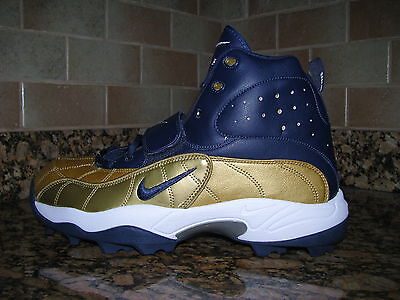 sale retailer 7ce0c 36d27 Nike Air Pro Shark Football NUBBY CLEATS 534768 426 SZ 13.5 MICHIGAN NOTRE  DAME