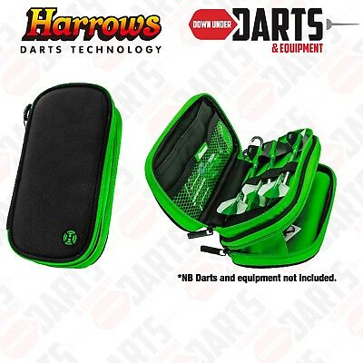 Harrows Z800 Black & Green Darts and Accessory Case / Wallet - Holds 2 Sets