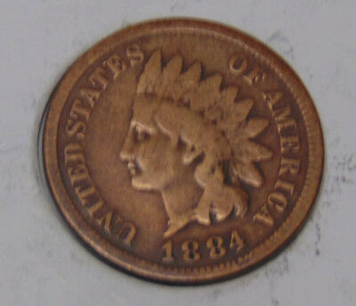 1884 Indian Head Cent (FREE SHIPPING OFFER) A