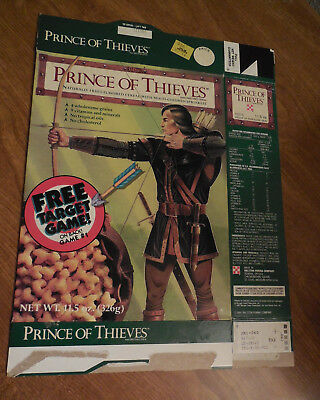 PRINCE of THIEVES Cereal Box RALSTON PURINA EMPTY - BOX ONLY target game on back