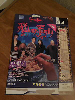 Vintage The Addams Family CEREAL BOX EMPTY Lot of 2