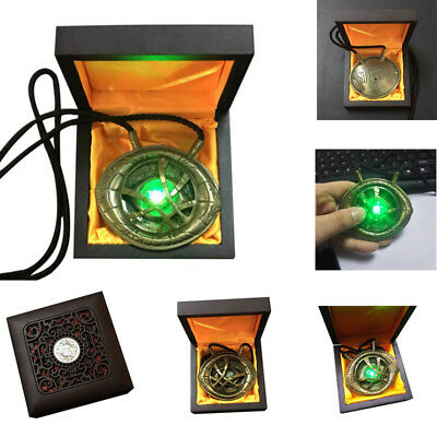 1:1 H-Q Light Dr Doctor Strange Eye Of Agamotto Pendant Necklace Prop Collection