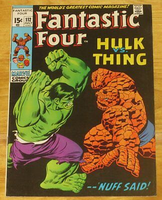 July 1971 FANTASTIC FOUR No. 112 HULK vs. THING Fine+ 6.5 No Reserve