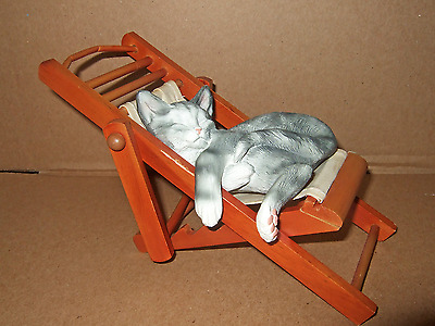 Beach Chair Cat - Gray Tabby - Creations By Carole - Second Nature Design