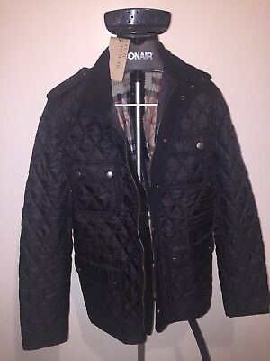 New Burberry Brit Men's Russell Diamond Quilted Jacket
