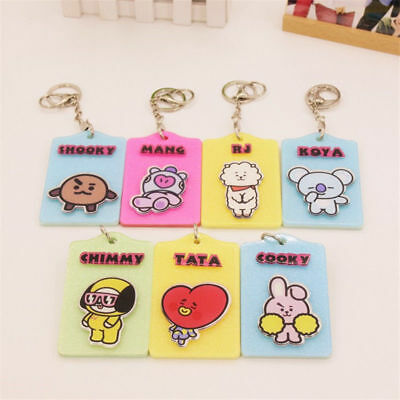 BTS Bangtan Boys BT21 ID Badge Card Holder Case with Lanyard Key Chain Kpop New
