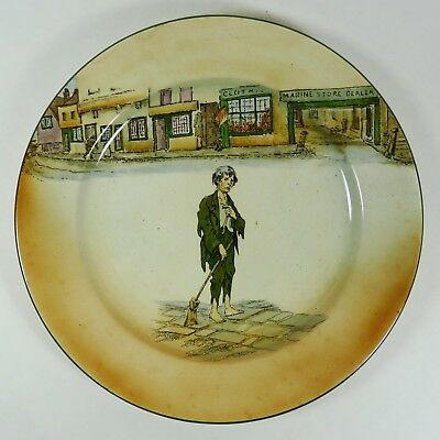 """Royal Doulton Dickens Ware Poor Jo Pattern 10-1/4"""" Plate Collectible"""