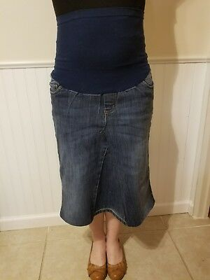 modest denim skirt motherhood maternity petite large