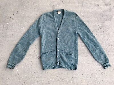 Vintage Mohair Wool Cardigan Sweater Men's M Medium Kurt Cobain Grunge Mcgregor