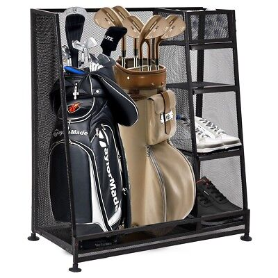Outdoor Sport Goplus Dual Golf Organizer Golf Bags Storage Rack Holder Case
