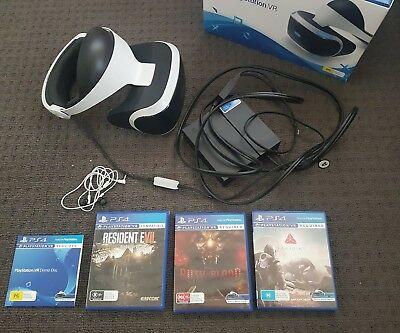 Playstation VR + camera + 2x move controller + 3x games