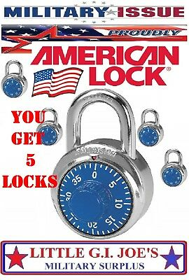 (10) NEW AMERICAN LOCK A400 Combination Padlock, Center 1 Dial SS MILITARY ISSUE