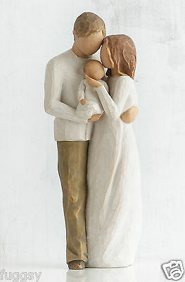 Our Gift Mum Dad Baby Willow Tree Figurine By Susan Lordi  26181