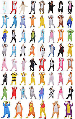New One Piece Adult Kigurumi Animal Pajamas Cosplay Costume Sleepwear Jumpsuits