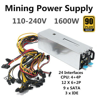1800W Mining Machine Power Supply For BTC Eth Bitcoin Miner Antminer S7 S9