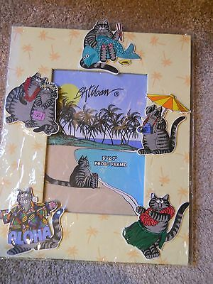 "New Kliban Cats Hawaiian 5"" x 7"" Photo Frame, Wooden"